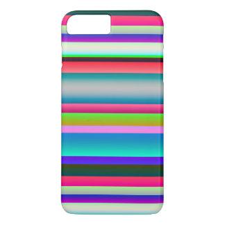 Bright Neon Rainbow Stripes iPhone 7 Plus Case
