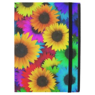 Bright Neon Sunflower Field