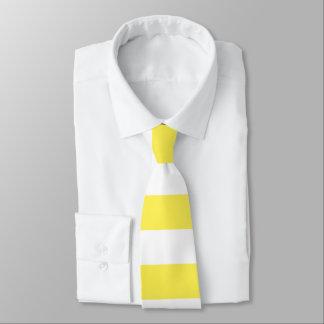 Bright Neon Yellow and White Stripe Tie