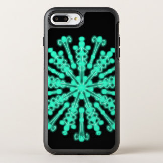 Bright Nights Black and Teal ~ OtterBox Symmetry iPhone 8 Plus/7 Plus Case