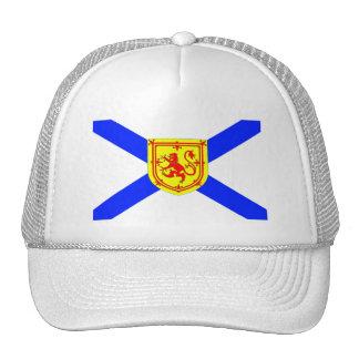 Bright Nova Scotia Canada 🇨🇦 flag  white hat