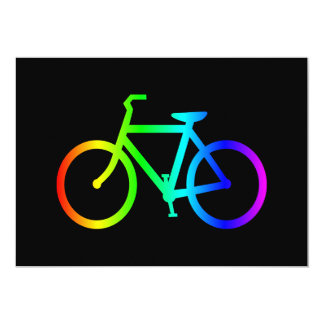 Bright Ombre Rainbow Bicycle Card