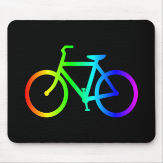 Bright Ombre Rainbow Bicycle Mouse Pad