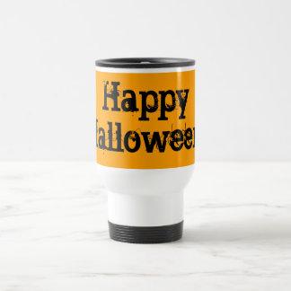 Bright Orange and Black Halloween Coffee Mugs