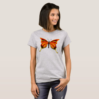 Bright Orange and Gold Butterfly T-Shirt
