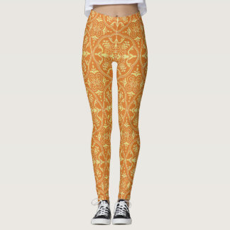 Bright Orange and Yellow Leggings