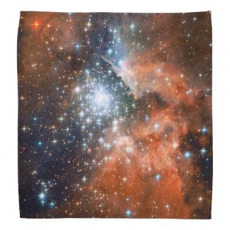 Bright Orange & Blue Galaxy Trendy Nebula Bandana