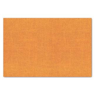 Bright Orange Burlap Texture Tissue Paper