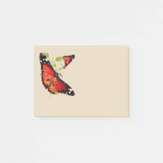 BRIGHT ORANGE BUTTERFLY POST-IT NOTES