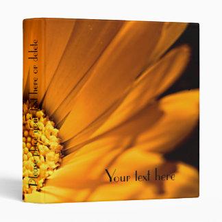 Bright Orange Daisy Wildflower 3 Ring Binders