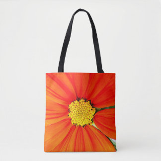 Bright Orange Flower Tote Bag