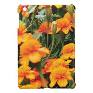 bright orange flowers cover for the iPad mini