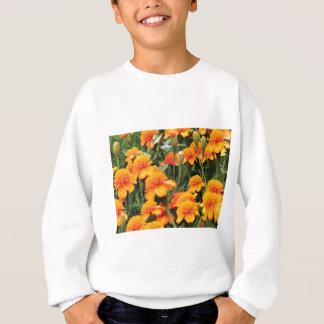 bright orange flowers sweatshirt