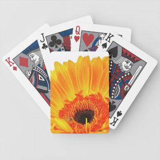 Bright Orange Gerbera Playing Cards