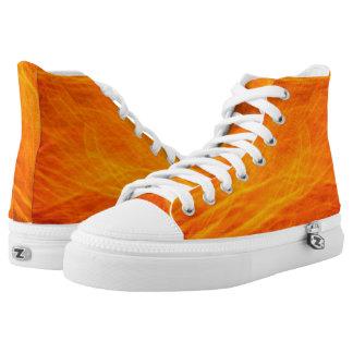 Bright Orange High Tops