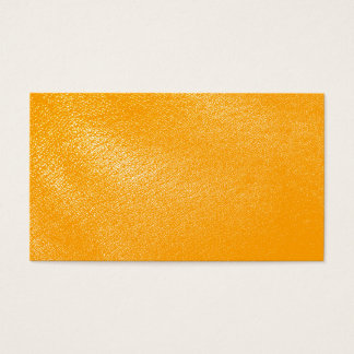 Bright Orange Leather Look Business Card