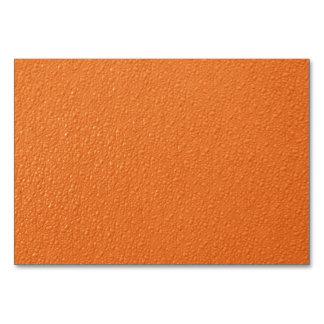 Bright Orange Neon Trendy Colors Table Cards