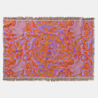 Bright Orange Purple Fire Stone Throw Blanket