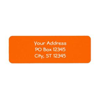 Bright Orange Return Address Label