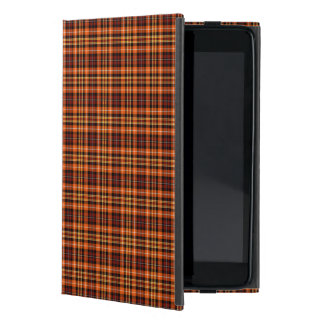 Bright Orange, Russet, and Yellow Fall Plaid iPad Mini Case