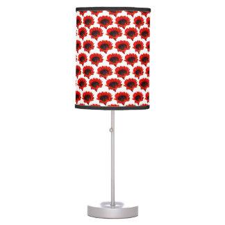 Bright orange sunflower pattern desk lamp