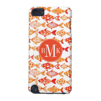 Bright Orange Watercolor Fish Pattern iPod Touch (5th Generation) Case