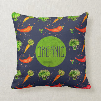 Bright organic sign retro themed design throw pillow