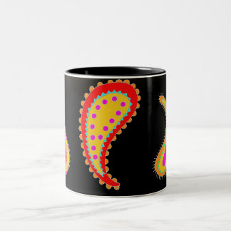 Bright paisley coffee mug