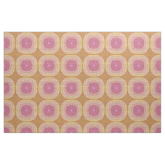 Bright Pastel Pink Yellow Ochre Bali Batik Pattern Fabric