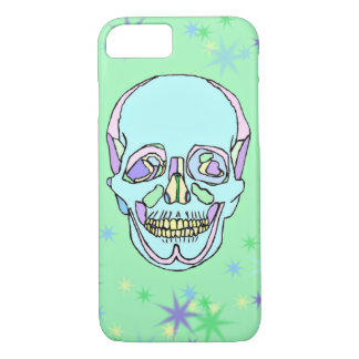 Bright Pastel Skull and Stars iPhone 7 Case