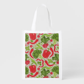 Bright pattern from fresh vegetables grocery bag