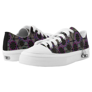 Bright pattern of circles Low-Top sneakers