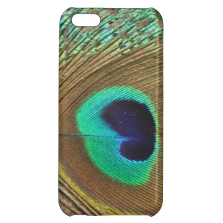 Bright peacock eye bird feather girly chic photo iPhone 5C cases