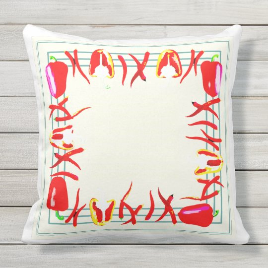 Bright peppers Designed pillow