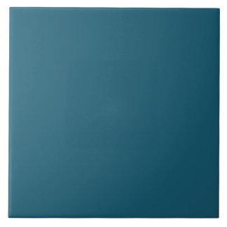 Bright Persian Blue Trend Color Template Blank Tile