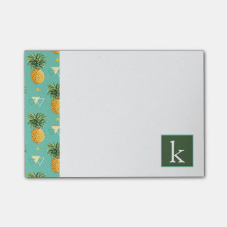 Bright Pineapples On Geometric Pattern | Add Your  Post-it® Notes
