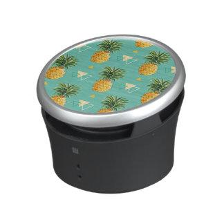 Bright Pineapples On Geometric Pattern Bluetooth Speaker