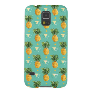 Bright Pineapples On Geometric Pattern Cases For Galaxy S5
