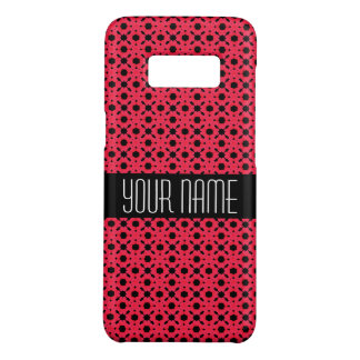 Bright Pink and Black Lace Swirl Pattern Case-Mate Samsung Galaxy S8 Case