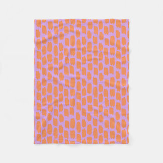 Bright Pink and Orange Abstract Fleece Blanket