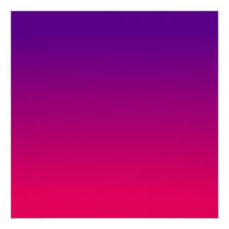 Bright Pink and Purple Ombre Poster