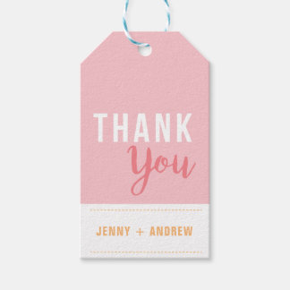 Bright Pink Bridal Shower Thank You Gift Tag