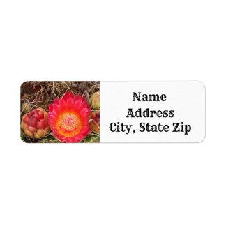 Bright Pink Cactus Bloom Desert Themed Address