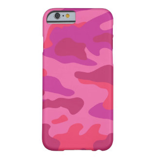 Bright Pink Camo Pattern | Barely There iPhone 6 Case