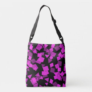 Bright Pink Confetti on Black Crossbody Bag