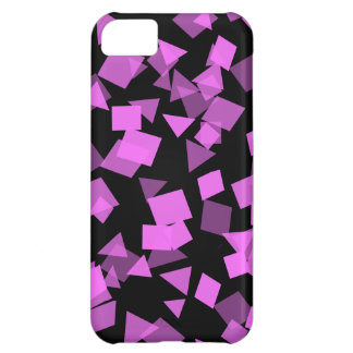 Bright Pink Confetti on Black iPhone 5C Covers