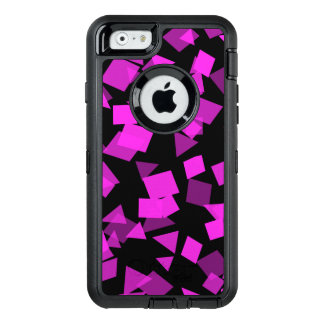 Bright Pink Confetti on Black OtterBox Defender iPhone Case