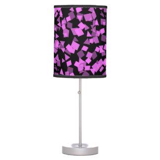 Bright Pink Confetti on Black Table Lamp