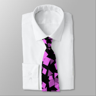 Bright Pink Confetti on Black Tie