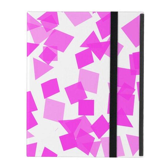 Bright Pink Confetti on White iPad Case